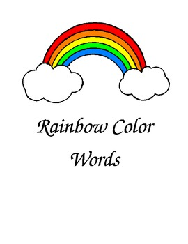 Rainbow Color Words Folder