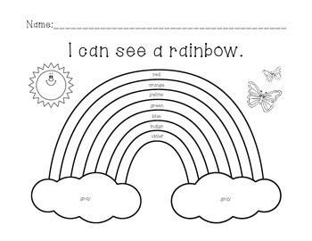 Rainbow Color Worksheet