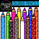 Rainbow Colored Pencils Clipart {Creative Clips Clipart}