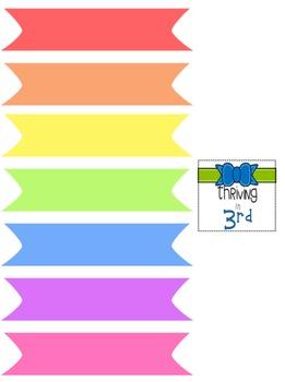 Rainbow Colored Washi Tape {Freebie}