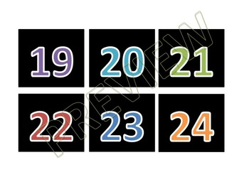 Rainbow Colorful Calendar Schedule Cards (Black Series)