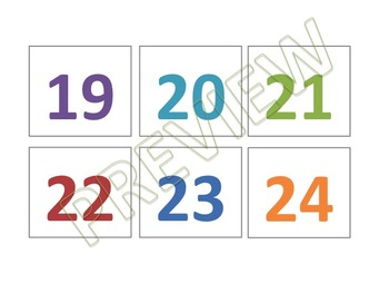 Rainbow Colorful Calendar Schedule Cards (White Series)
