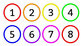 Rainbow/Colorful Classroom Numbers/Calendar