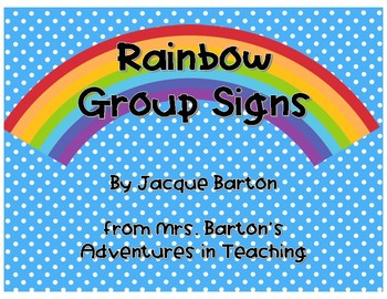 Rainbow Colors Group Signs