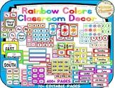Rainbow Colors MEGA Classroom Decor Pack