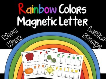 Rainbow Colors Magnetic Letters Word Work