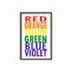 Rainbow Colors Poster 11x17 & 8.5x11 for the Art Room or Classroom