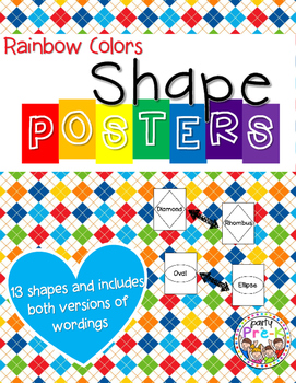 Rainbow Colors Shape Posters
