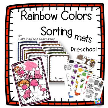 Rainbow Colors Sorting Mats – Preschool