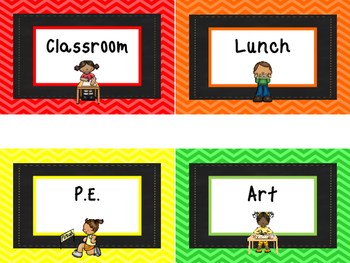 Rainbow Colors Where is the Class Classroom Chart. Classroom  Management.