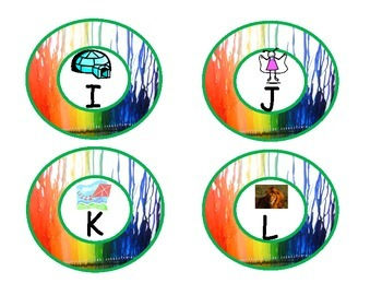 Rainbow Colors Word Wall Letters