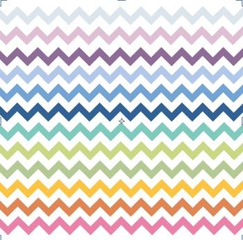 Rainbow Coloured Chevron Borders