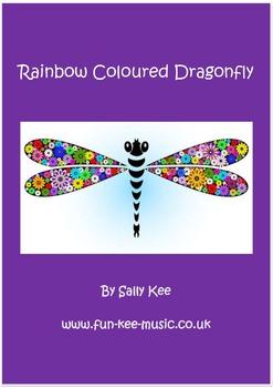 Rainbow Coloured Dragonfly