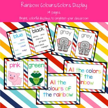Rainbow Colours/Colors Display Posters