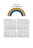 Rainbow Colours Word Finder