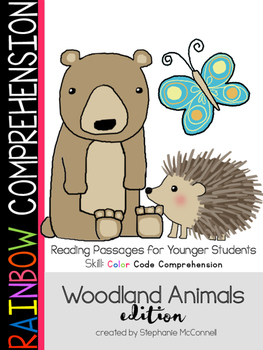 Rainbow Comprehension for Young Students: Woodland Animals