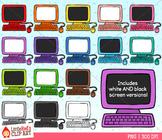 Rainbow Computers Clip Art