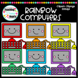 Rainbow Computers Clipart