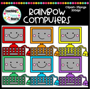 Rainbow Computers Clipart