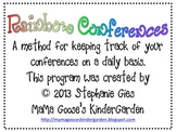 Rainbow Conferences - A System for Organizing Writing/Read