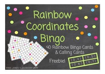 Rainbow Coordinates Bingo