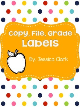 Rainbow Copy, Grade, File Labels