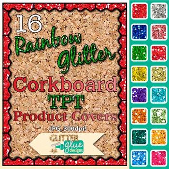Corkboard Product Covers Clip Art {Design Teachers Pay Teachers Resources} 1