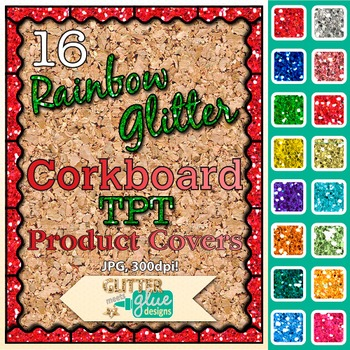 Corkboard Product Covers Clip Art | Design Teachers Pay Teachers Resources 1