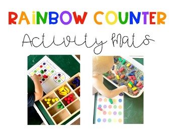 Rainbow Counter Activity Mats