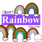 Rainbow Counting Clipart