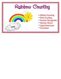 Rainbow Counting File Folder Game