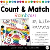 Count & Match Rainbows 1-30 Counting and Addition Math Tubs