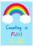 Rainbow Counting is Fun 0-20 Flashcards