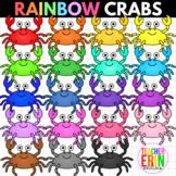 Rainbow Crabs Clipart