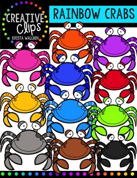 Rainbow Crabs {Creative Clips Digital Clipart}