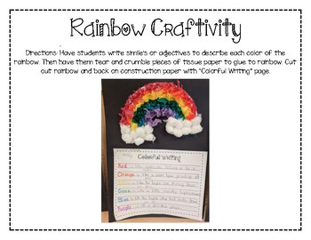Rainbow Craftivity (St Patricks Day)
