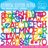 Rainbow Crayon Alphabet - Clipart For Teaching