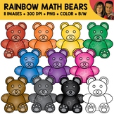 Rainbow Counting Bear Clipart
