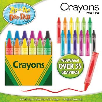 Crayons Clipart {Zip-A-Dee-Doo-Dah Designs}