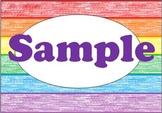 Rainbow Crayon Labels