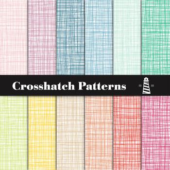 Rainbow Crosshatch Patterns, Crosshatch Digital Paper, Printable Backgrounds