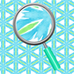 Rainbow Crystals Kalidoscope Watercolor Digital Paper / Backgrounds Clip Art