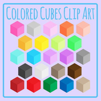 Rainbow Cubes - 23 images!  Clip Art Set for Commercial Use