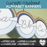Rainbow Cursive Alphabet Banners