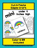 Rainbow - Cut & Paste Craft - Mini Craftivity for Pre-K &