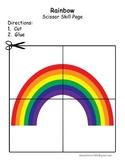 Rainbow Cutting Skills Page St. Patrick's Day Scissor Skills