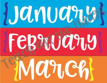 Rainbow Daily Calendar Kit
