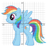 Rainbow Dash (MyLittlePony) - Coordinate Graphing Picture, 4 Quadrants