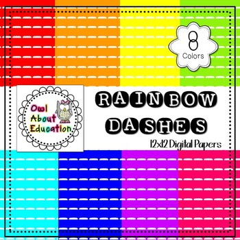 Rainbow Dashes - Digital Paper Pack
