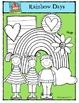 Rainbow Days Kids {P4 Clips Trioriginals Digital Clip Art}